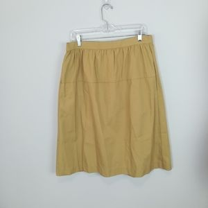 GAP Knee Length Skirt with Pockets Tan Size L